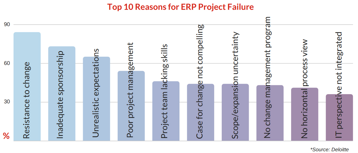 The top 10 reasons that ERP projects fail