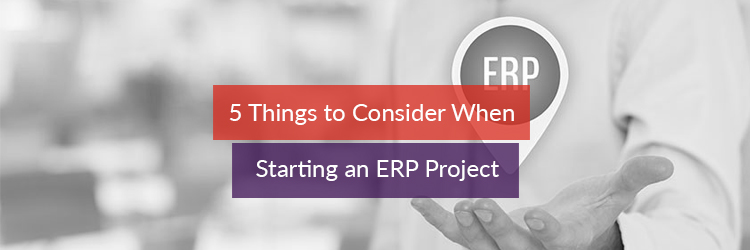 5 Things to Consider When Starting an ERP Project
