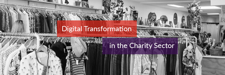 Digital transformation in the charity sector header image