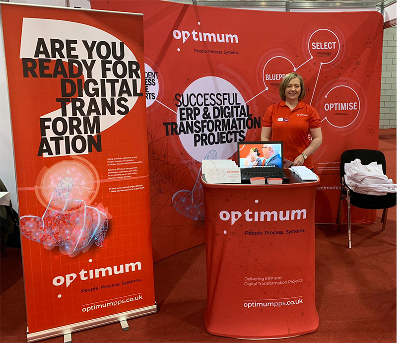 Optimum team member Lisa at The Gathering 2020